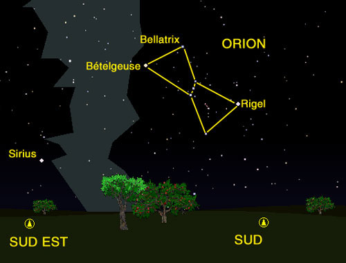 2.2 Le ciel selon les saisons Orion01